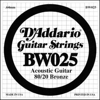 Daddario .025 Bronze Wound Guitar String