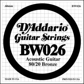 Daddario .026 Bronze Wound Guitar String