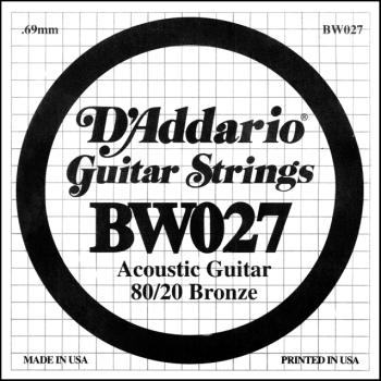 Daddario BW027 .027 Bronze Wound Guitar String