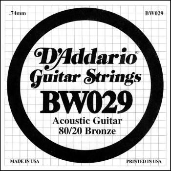 Daddario BW029 .029 Bronze Wound Guitar String