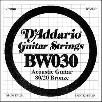 Daddario BW030 .030 Bronze Wound Guitar String