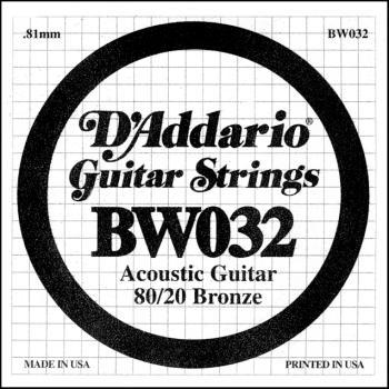Daddario BW032 .032 Bronze Wound Guitar String