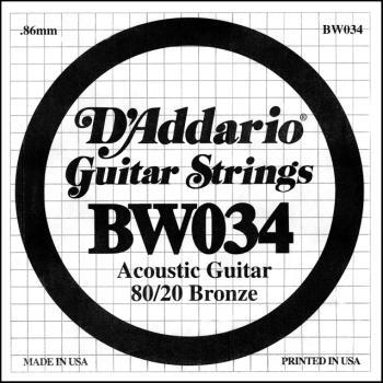 Daddario BW034 .034 Bronze Wound Guitar String