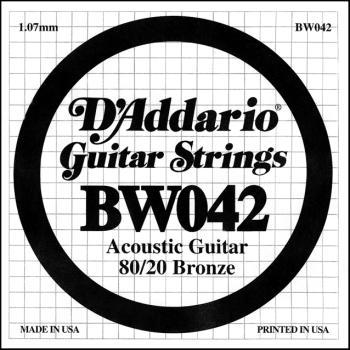 Daddario BW042 .042 Bronze Wound Guitar String