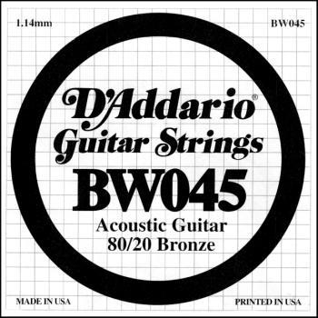 Daddario BW045 .045 Bronze Wound Guitar String