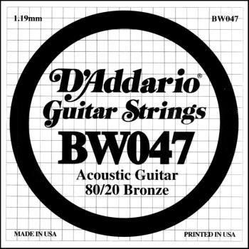 Daddario BW047 .047 Bronze Wound Guitar String