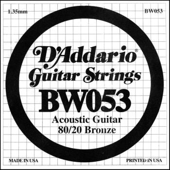 Daddario BW053 .053 Bronze Wound Guitar String