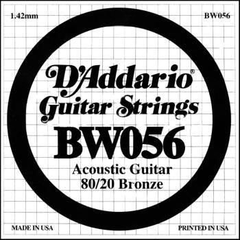 Daddario BW056 .056 Bronze Wound Guitar String