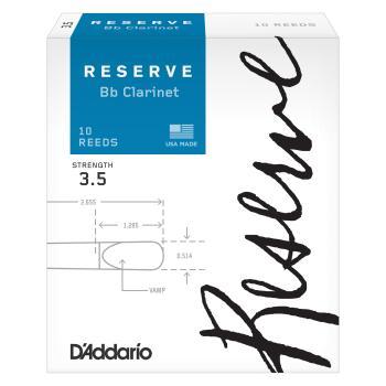 D'Addario Reserve Bb Clarinet Reeds 3.5 10 Pack DCR1035