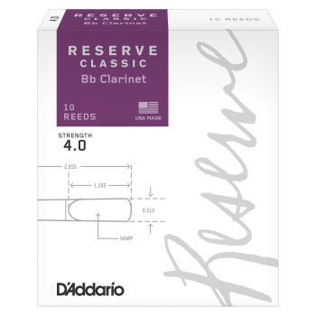D'Addario DCT1040 Clar Reserve Classic 4 Box Reeds