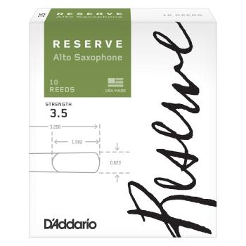 D'Addario Reserve Alto Sax Reeds 3.5 10 Pack DJR1035
