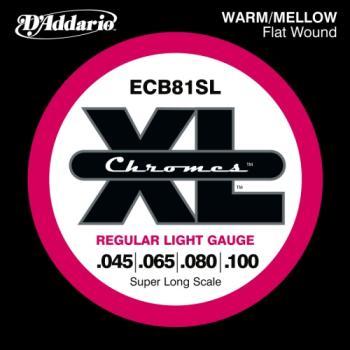 D'Addario ECB81SL Bass Chromes Flat Wound Super Long Scale Regular Light 45-100