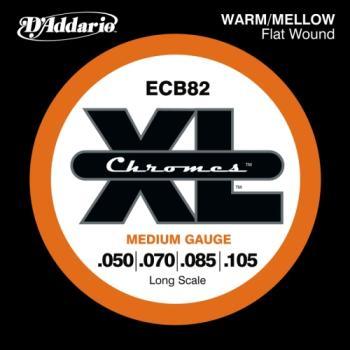 D'Addario ECB82 Bass Chromes Flat Wound Long Scale Medium 50-105