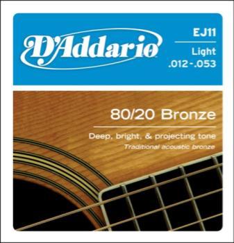 D'addario Xl 80/20 Acoustic Bronze (12 - 53) EJ11