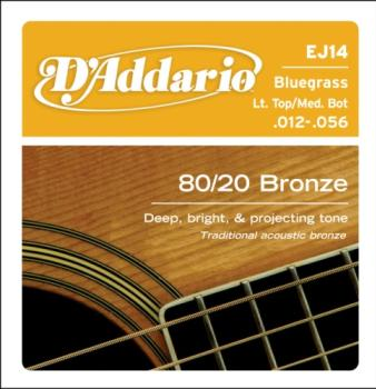 D'Addario EJ14 80/20 Light Top/ Medium Bottom 12-56