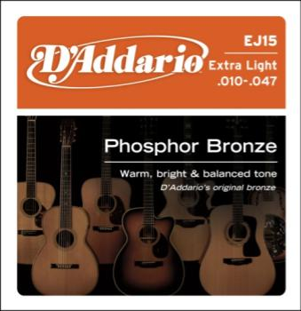 D'Addario  Acoustic Guitar String Set EJ15 Extra Light