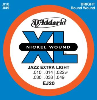 D'Addario EJ20 XL Jazz Extra Light 10-49 Wound Third