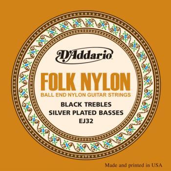 Folk Nylon Guitar String Set D'Addario EJ32