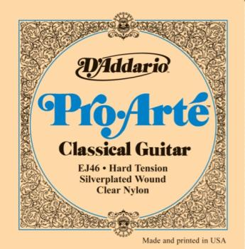 Classical Guitar String Set Hard D'Addario EJ46