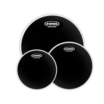 Evans Drumheads ETP-CHR-R Evans Black Chrome Tom Pack Rock 10-12-16
