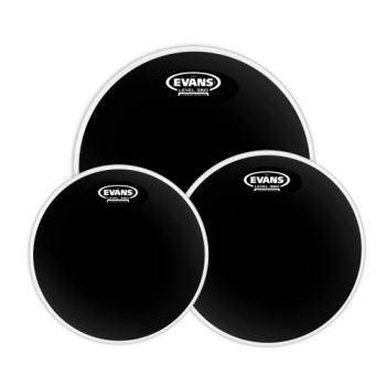 Evans Drumheads ETP-CHR-S Evans Black Chrome Tom Pack Standarad 12-13-16