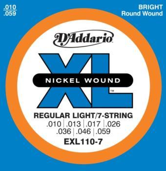 D'Addario EXL110-7 7 String XL Regular Light 10-59