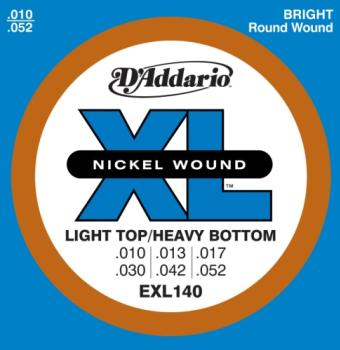 D'Addario EXL140 XL Light Top/ Heavy Bottom 10-52