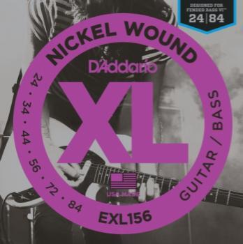 D'Addario EXL156 Guitar/ Bass XL Designed for Fender Bass VI 24-84