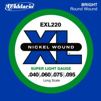 D'Addario EXL220 Long Scale Nickel Wound Bass Guitar Strings