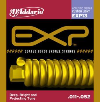 D'Addario EXP13 Coated 80/20 Custom Light 11-52