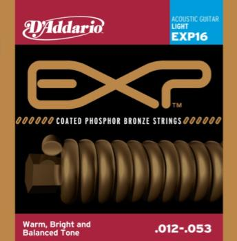 D'Addario EXP16 Coated Phosphor Bronze Light 12-53