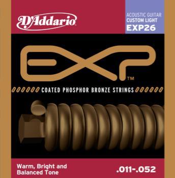 D'Addario EXP26 Coated Phosphor Bronze Custom Light 11-52