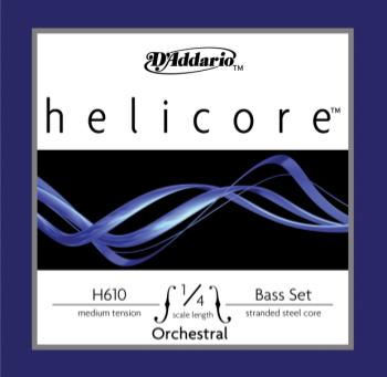 D'Addario Helicore Orchestral Bass String Set, 1/4 Scale, Medium Tension H61014M