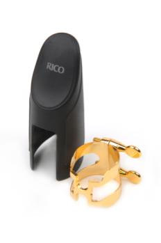 D'Addario HAS1G H-Ligature & Cap, Alto Sax, Gold-plated