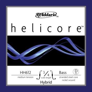D'Addario Helicore Hybrid 3/4 Bass Single D String Medium Tension HH61234M