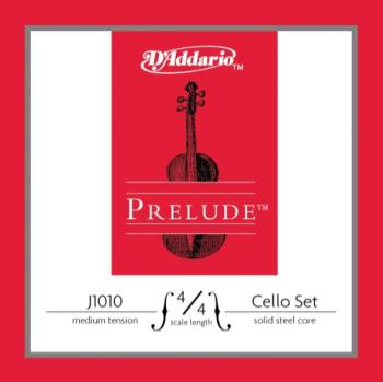 D'Addario Prelude Cello String Set, 4/4 Scale, Medium Tension