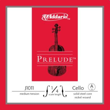D'Addario Prelude 1/4 Cello Single A String Medium Tension J101114M