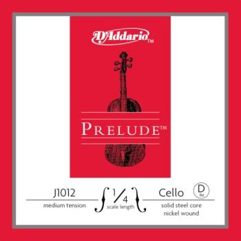 J1012_1/4M D'Addario Prelude Cello Single D String, 1/4 Scale, Medium Tension