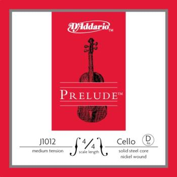 J1012_4/4M D'Addario Prelude Cello Single D String, 4/4 Scale, Medium Tension