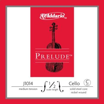 D'addario J1014_1/2M D'Addario Prelude Cello Single C String, 1/2 Scale, Medium Tension