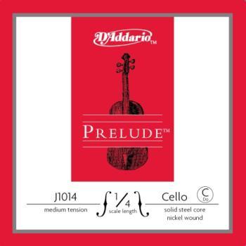 D'addario J1014_1/4M D'Addario Prelude Cello Single C String, 1/4 Scale, Medium Tension