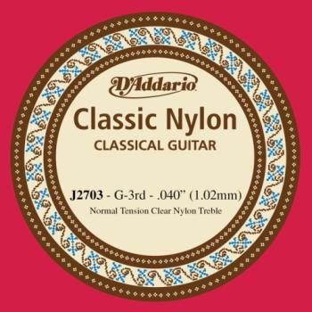 Daddario J2703 G - 3rd Clear Nylon Guitar String