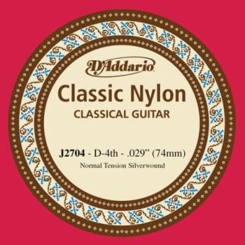 Daddario J2704 D - 4th Silver plated nylon Guitar String