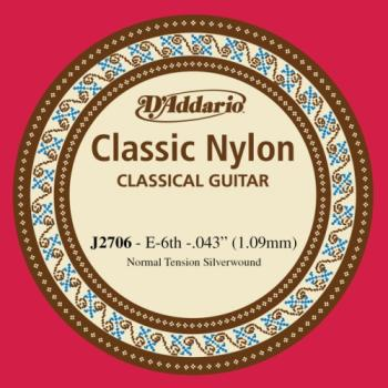 Daddario J2706 E - 6th Silver Plated Nylon Guitar String