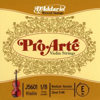 D'Addario D'Addario Pro-Arte Violin Single E String, 1/8 Scale, Medium Tension