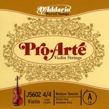 D'Addario D'Addario Pro-Arte Violin Single A String, 4/4 Scale, Medium Tension