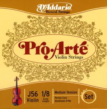 D'Addario D'Addario Pro-Arte Violin String Set, 1/8 Scale, Medium Tension