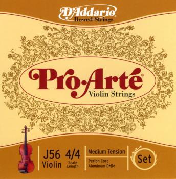 D'Addario J56-4/4M Pro Arte 4/4 Nylon Core Violin String - Set
