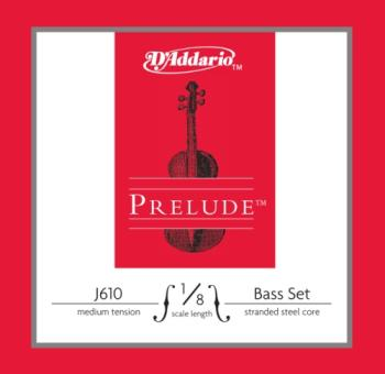 J61018M D'Addario Prelude Bass String Set, 1/8 Scale, Medium Tension