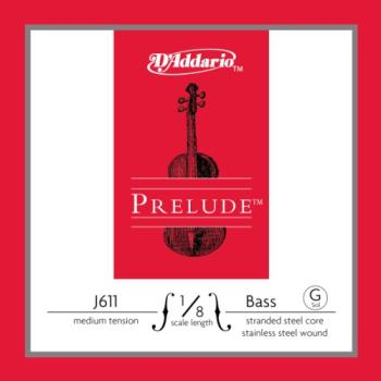 D'Addario Prelude Bass Single G String, 1/8 Scale, Medium Tension J61118M
